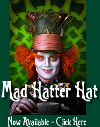 Mad Hatter Hat Now Available